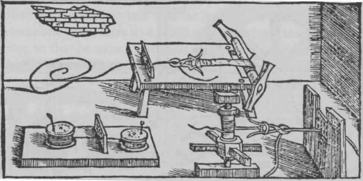 Fig. 5: Machines for hand-drawing the lesser diameters (adopted from Biringüccio 1990 [1540]: 380).